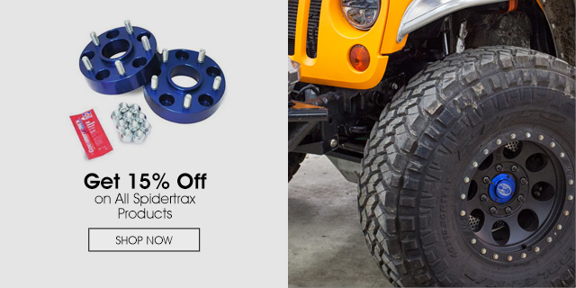 15% Off on All Spidertrax Products