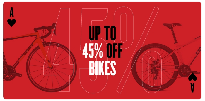 Up to 45% off Bikes