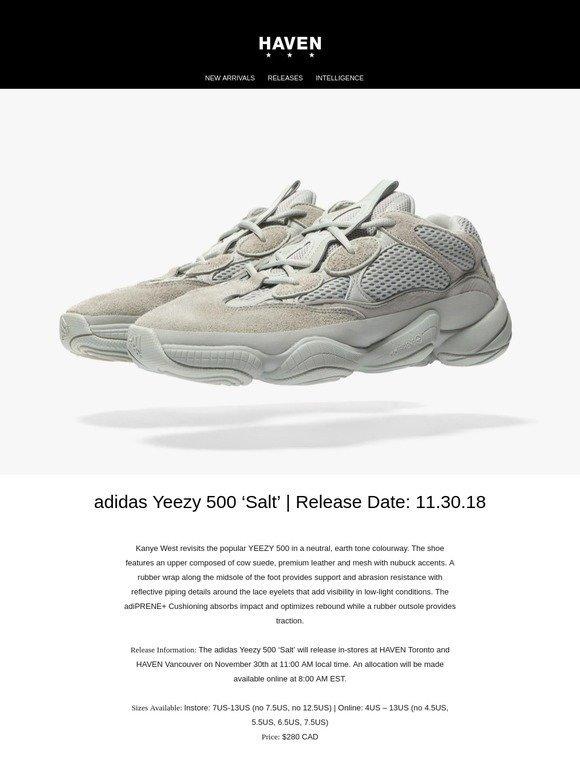 9fbf331ccfc58 Haven  Releases  adidas Yeezy 500  Salt
