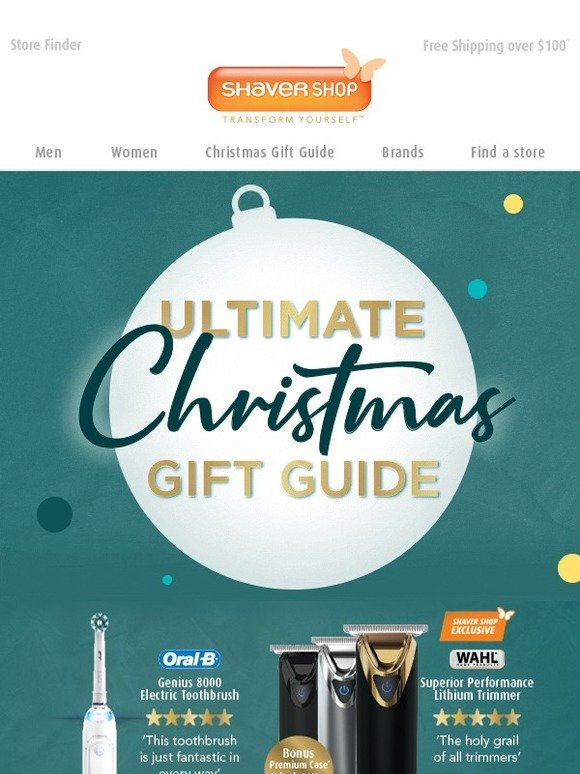 Christmas Gift Guide Catalogue.Shaver Shop Au Catalogue Out Now The Ultimate Christmas