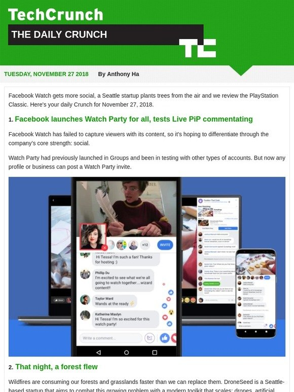TechCrunch: Facebook launches Watch Party for everyone | Milled