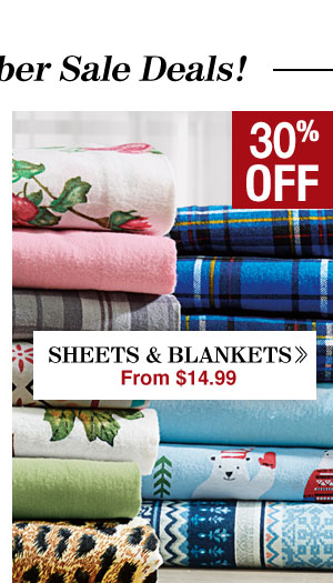 Shop Sheets & Blankets!