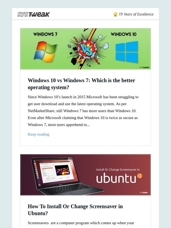 Systweak Inc: Systweak Blog: Windows 10 vs Windows 7: Which is the
