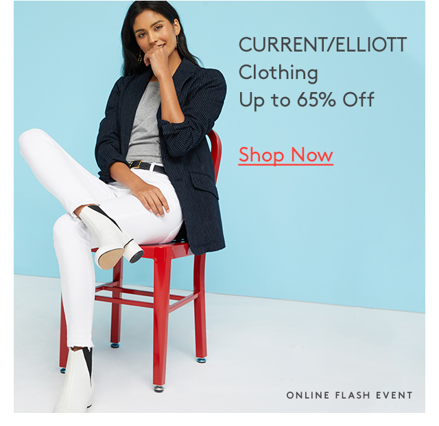 CURRENT/ELLIOTT Clothing | Up to 65% Off | Shop Now | Online Flash Event
