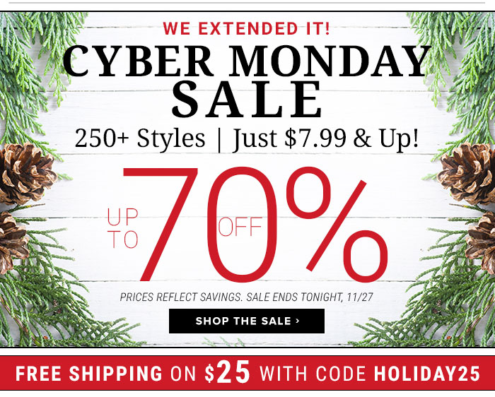 It's Here! The Cyber Monday Sale
