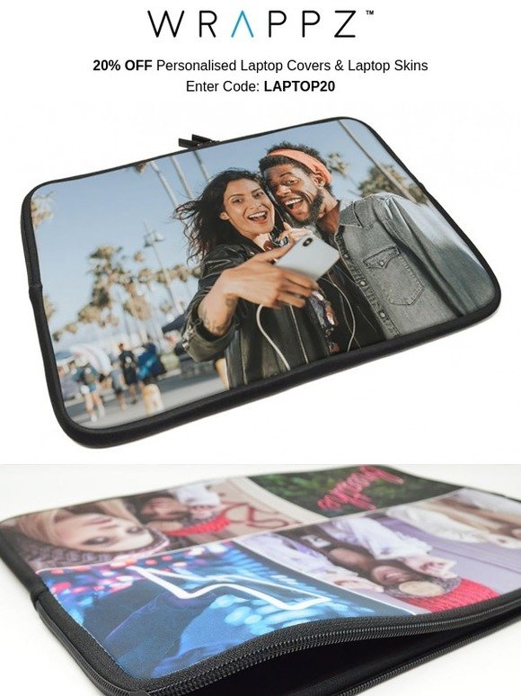 Wrappz: 20% OFF Personalised Laptop Covers & Skins | Milled