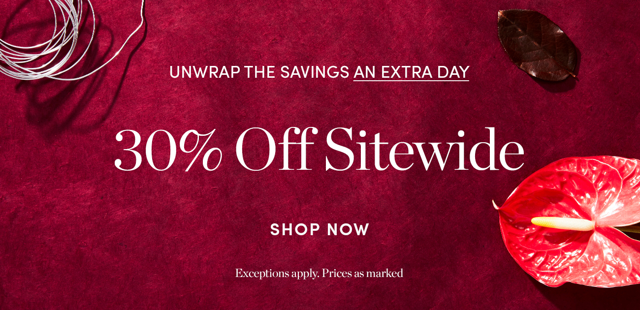 30% off Sitewide- Extended