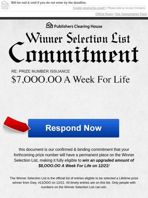 Win 10 000 00 A Week For Life Enter This Pch Sweepstakes
