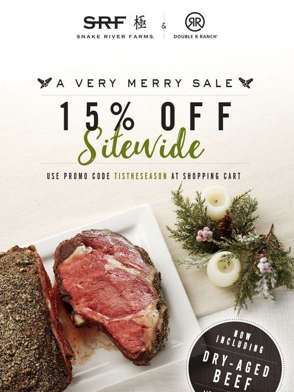 Snake River Farms 15 Off Sitewide Going On Now A Very Merry Sale Milled