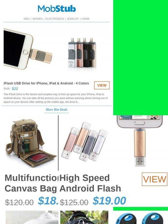 Mobstub: iFlash USB Drive for iPhone & iPad - 82% OFF