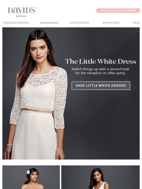 09a35fa0ca7d David's Bridal (coupons): Little. White. Dress. | Milled