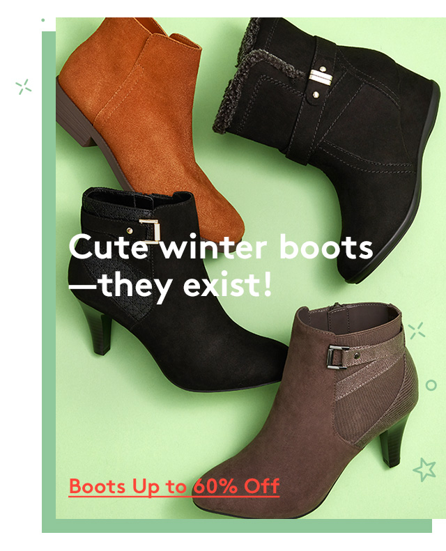 Cute winter boots - they exist!   Boots Up to 60% Off