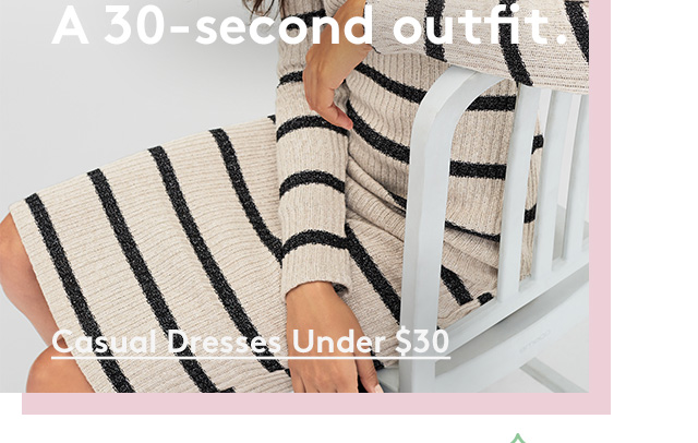 A 30-second outfit.   Casual Dresses Under $30