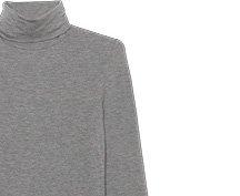 Mix Modal Long Sleeve Turtleneck