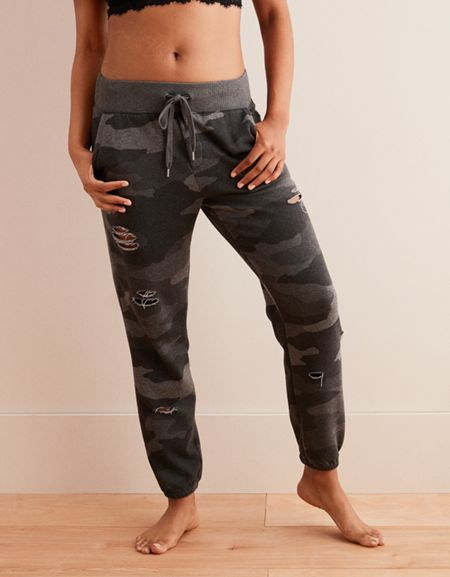 American Eagle Only A Few Left Aerie Destroyed City Jogger Milled