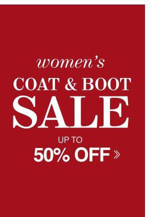 Shop Women's Coat & Boot Sale!!