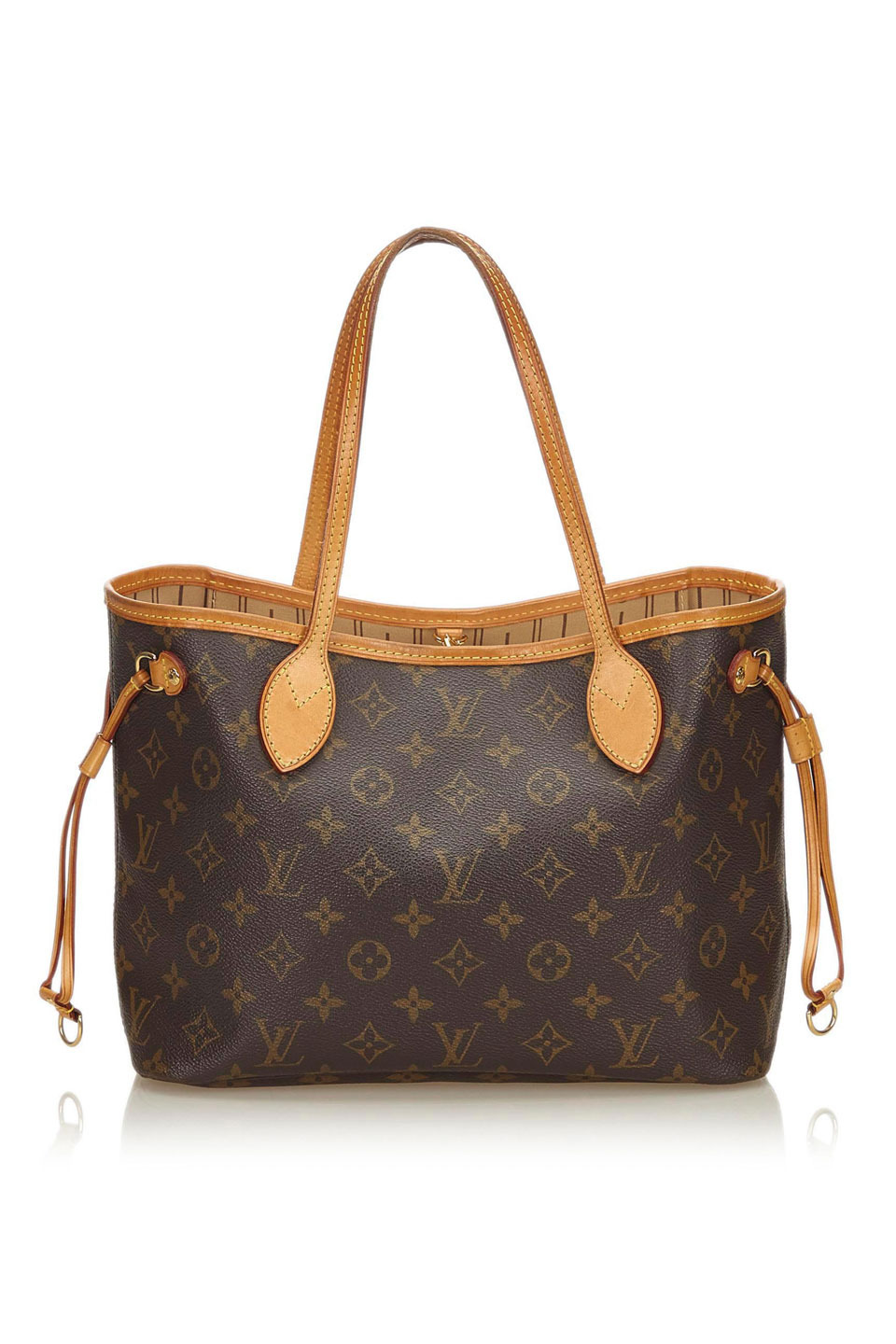 LOUIS VUITTON MONOGRAM NEVERFULL PM IN BROWN
