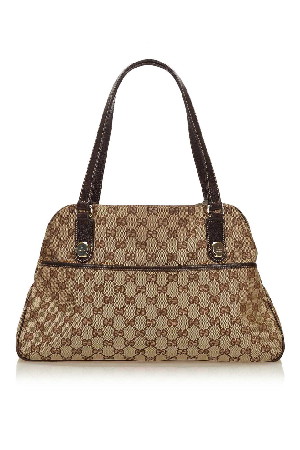 GUCCI GUCCISSIMA CANVAS SHOULDER BAG IN ...