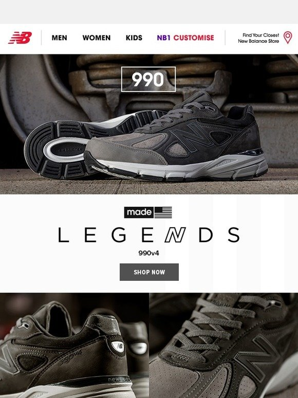 official photos 1f791 108ab new balance UK: Made for Legends - 990 in Brand New Colours ...