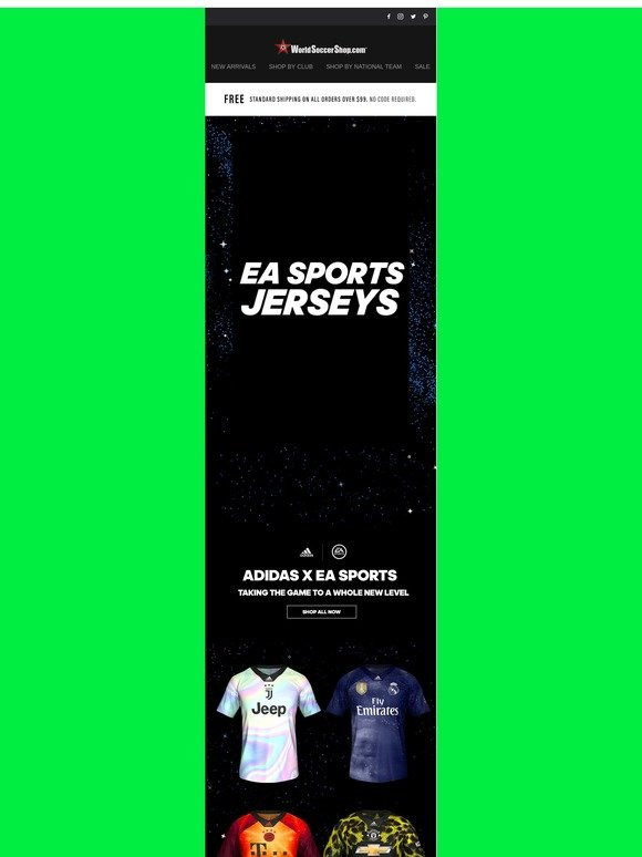 8bfd25ce9 World Soccer Shop  Limited Edition adidas x EA Sports Jerseys + Nike Sale