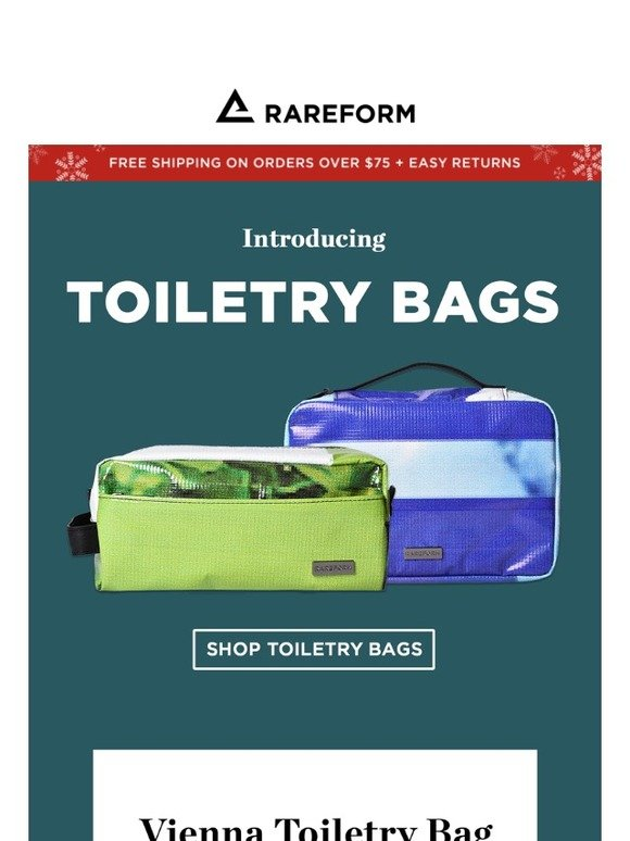 b880590ccf9f RAREFORM.com  NEW  The Toiletry Bag you always wanted.
