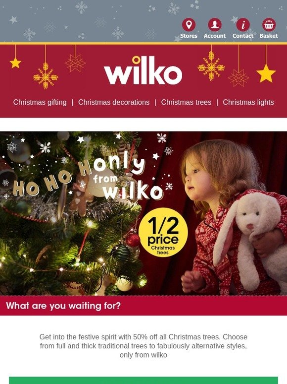 Wilko Com 50 Off All Christmas Trees Milled