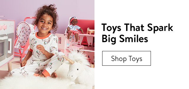 Toys that spark big smiles.
