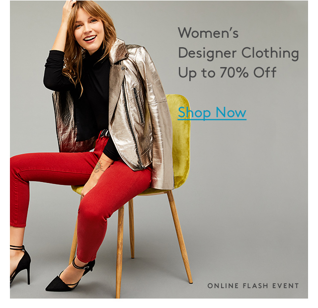 Women's Designer Clothing | Up to 70% Off | Shop Now | Online Flash Event
