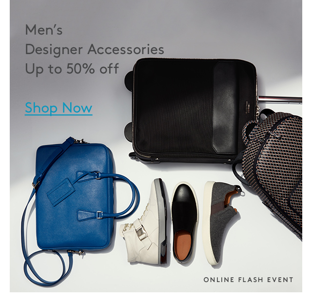 Men's Designer Accessories | Up to 50% off | Shop Now | Online Flash Event