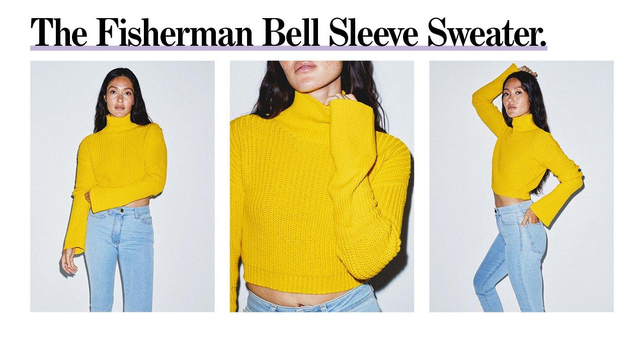 Fisherman Bell Sleeve Sweater