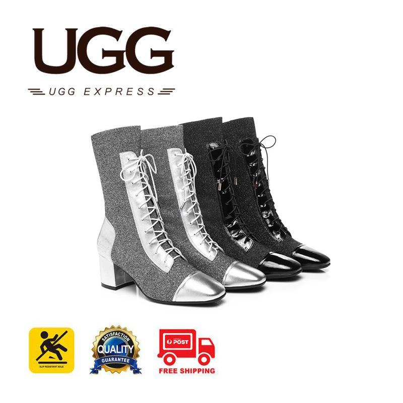 645a2c4f1b21f6 Image of Everugg Fashion boots Tayki,Lace up ,Patent Leather Knit upper