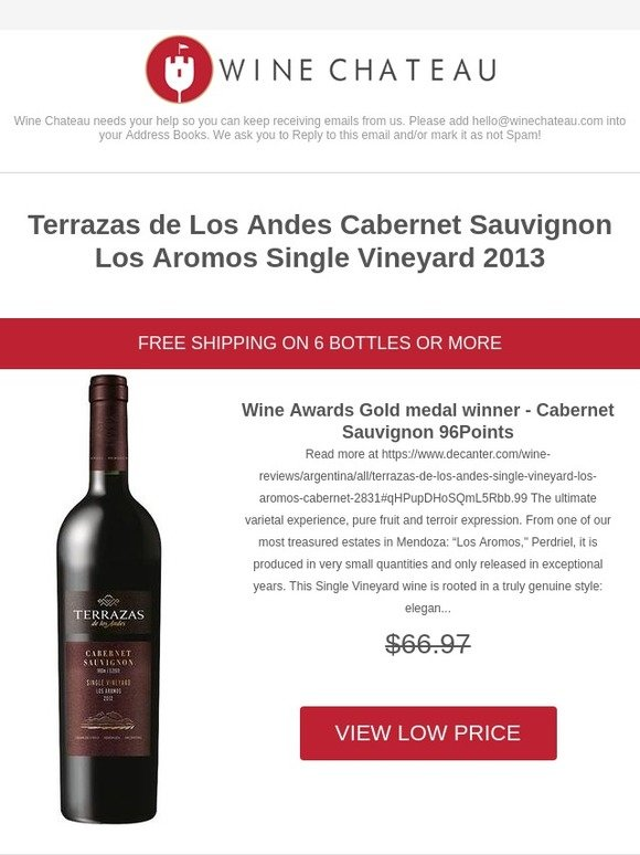 Winechateau Com Wine Awards Gold Medal Winner 96 Points
