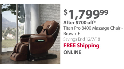 Titan Pro 8400 Massage Chair - Brown