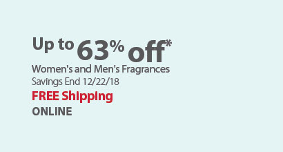 Up to 60% off  Women's and Men's Fragrances (Banner Req)
