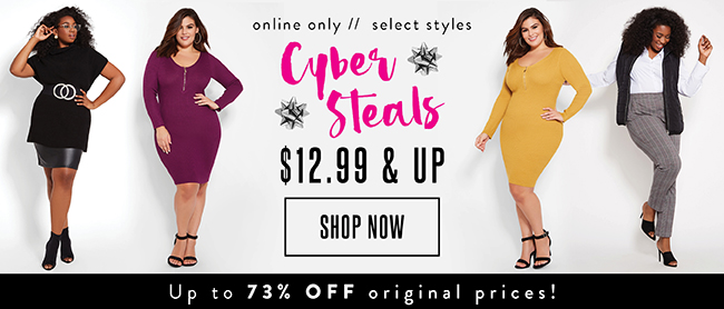 Cyber Steals $12.99 and up - Shop Now