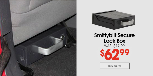 Save 20% on this Smittybilt Secure Lock Box