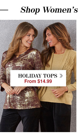 Shop Women's Holiday Tops!