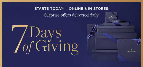 STARTS TODAY | 7 DAYS OF GIVING