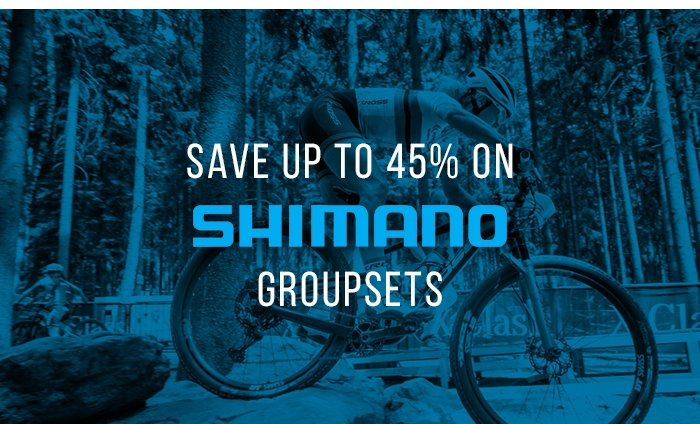 Save up to 45% on Shimano Groupsets