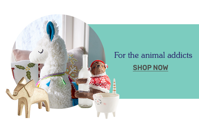 Shop gifts for animal lovers.