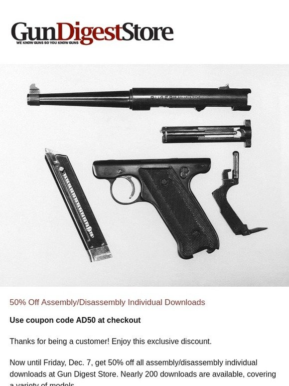 gundigeststore com: A Gift For You: 50% Off Assembly
