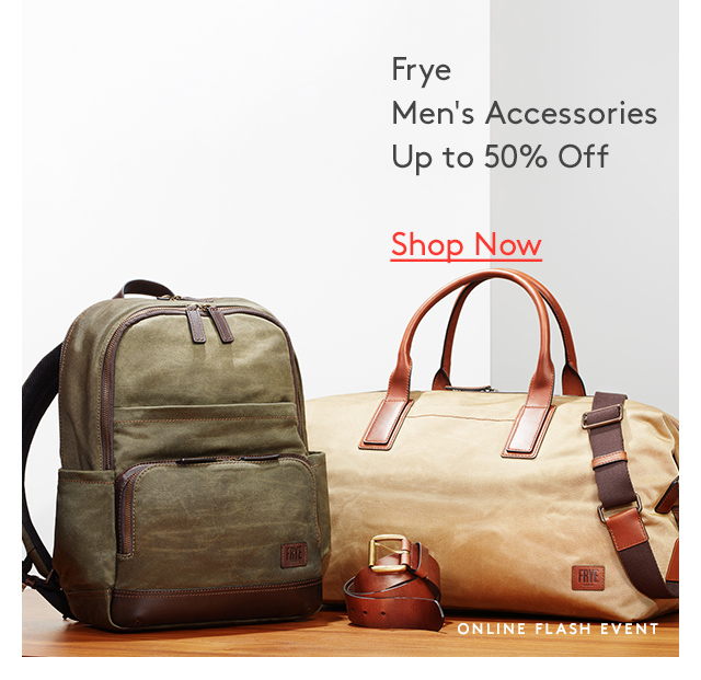 Frye | Men's Accessories | Up to 50% Off | Shop Now | Online flash event