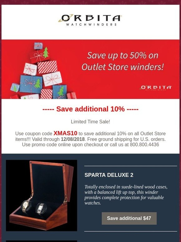 716dd2d2e79 Orbita  Online Exclusive Ends Soon! 👀 Save up to 50% on all Outlet Store  winders..