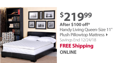 Handy Living Queen-Size 11 Plush Pillowtop Mattress