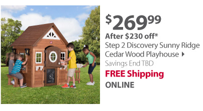 Step 2 Discovery Sunny Ridge Cedar Wood Playhouse