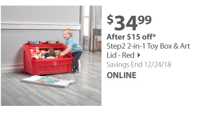 Step 2 2 IN 1 TOY BOX & ART LID (RED)