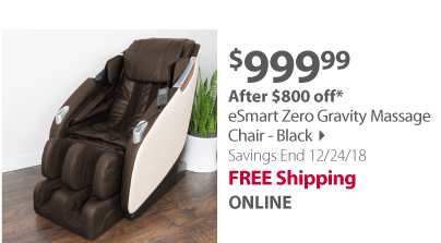 eSmart Zero Gravity Massage Chair - Black