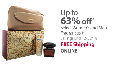Save up to 63% on Women's and Men's Fragrances