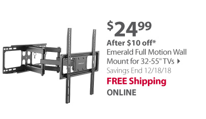 Emerald Full Motion Wall Mount for 32-55 TVs