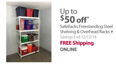 SafeRacks Freestanding Steel Shelving & Overhead Racks